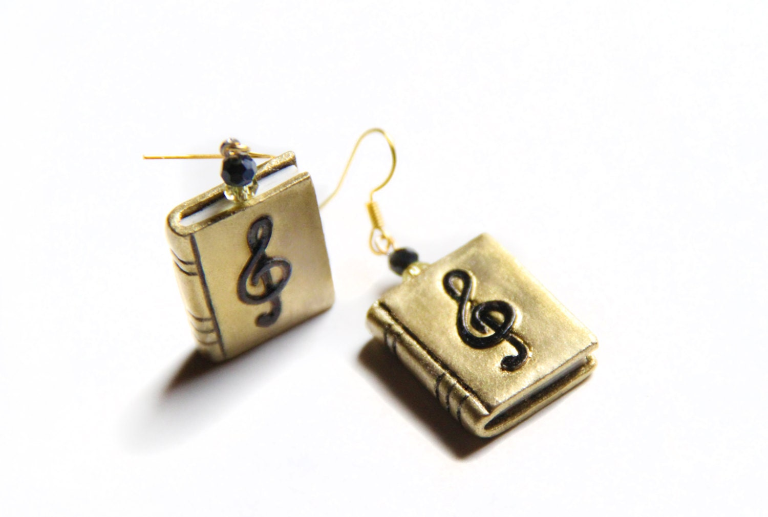 gold dangle book earrings mini book jewelry book lover gift