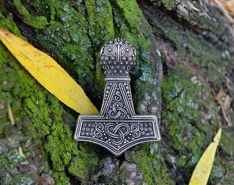 Replica Bredsatra Thors Hammer. Mjolnir. Thor Hammer. Thor's Mjöllnir. Viking Pendant. Thors Hammers. Öland, Sweden.