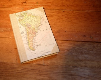 Map and Linen Travel Journal
