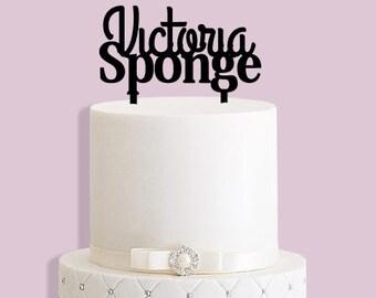 Victoria Sponge Cake Topper