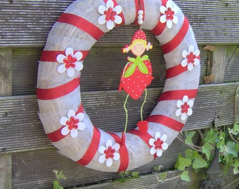 "Wreath: ""Strawberry girl"""