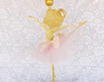 Ballerina Centerpiece - Tutu Centerpiece - Ballerina Party Decorations - Tutu Decorations - Pink Gold Ballerina - Customized - Centerpiece
