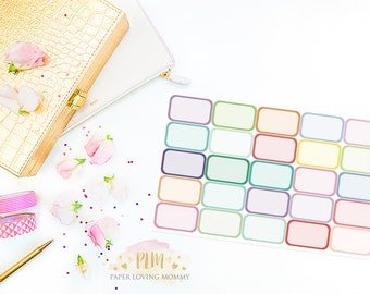25 Half Boxes | Planner Stickers designed for use with the Erin Condren Life Planner | 0928