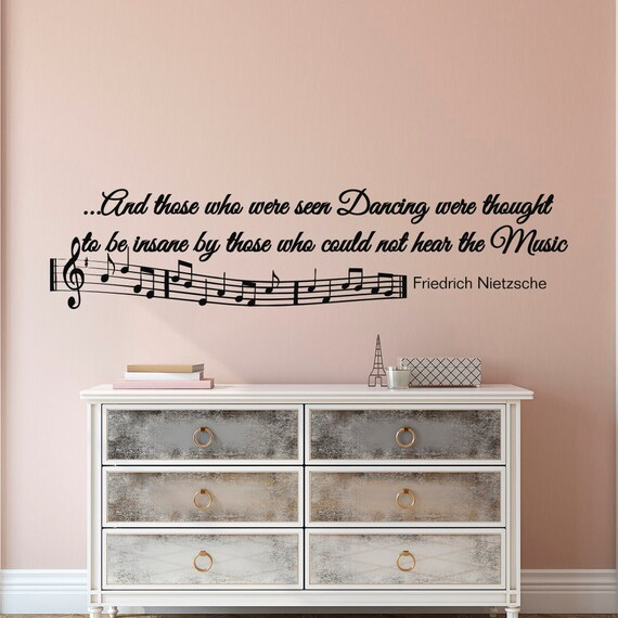 note de musique stickers muraux citations lettrage de vinyle. Black Bedroom Furniture Sets. Home Design Ideas