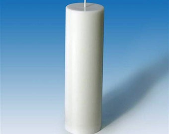 Pillar Candle Mold, Flat Top Polycarbonate Clear Candlemaking Mold, Seamless. Transparent Plastic Candle Making Molds.