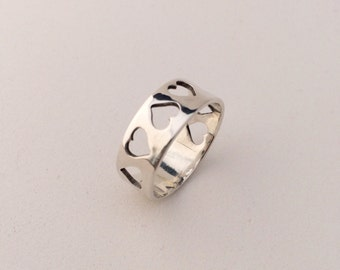 Hearts Sterling Silver Ring