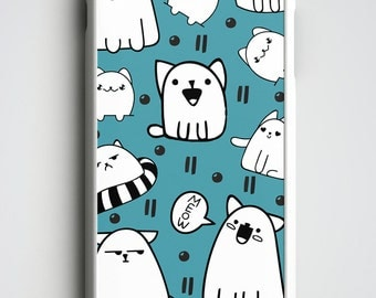 Cat iPhone 6S Case, Cute iPhone 6 Case, Kitten iPhone Case, Cute Cat iPhone 6 Plus Case, Doodle iPhone 5S Case, Gift for Cat Lovers