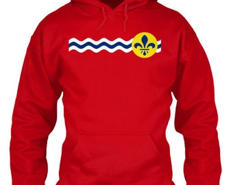 St. Louis Hoodie - St. Louis Missouri City Flag - St. Louis Hoodie