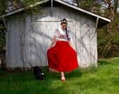 1970s pendleton wool skirt