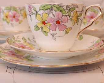 RESERVED Collingwood Tea Set Handpainted