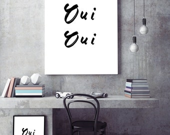 French quote, Digital download, quote wall art, quote print, typography print
