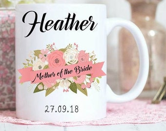 Mother of the Bride mug, Personalised gift, Bridal party gifts, wedding mugs, Gifts for the girls, Personalized bridesmaid gifts