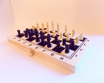 Wooden chess set, Wooden chess, Chess, Children chess, Handmade Chess, Carved chess, Game, Gift, Hand carved, Eco,Toy, Board game, Chess set