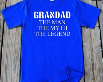 Grandad The Man The Myth The Legend T-Shirt Gift For Grandpa Father's Day T-Shirt