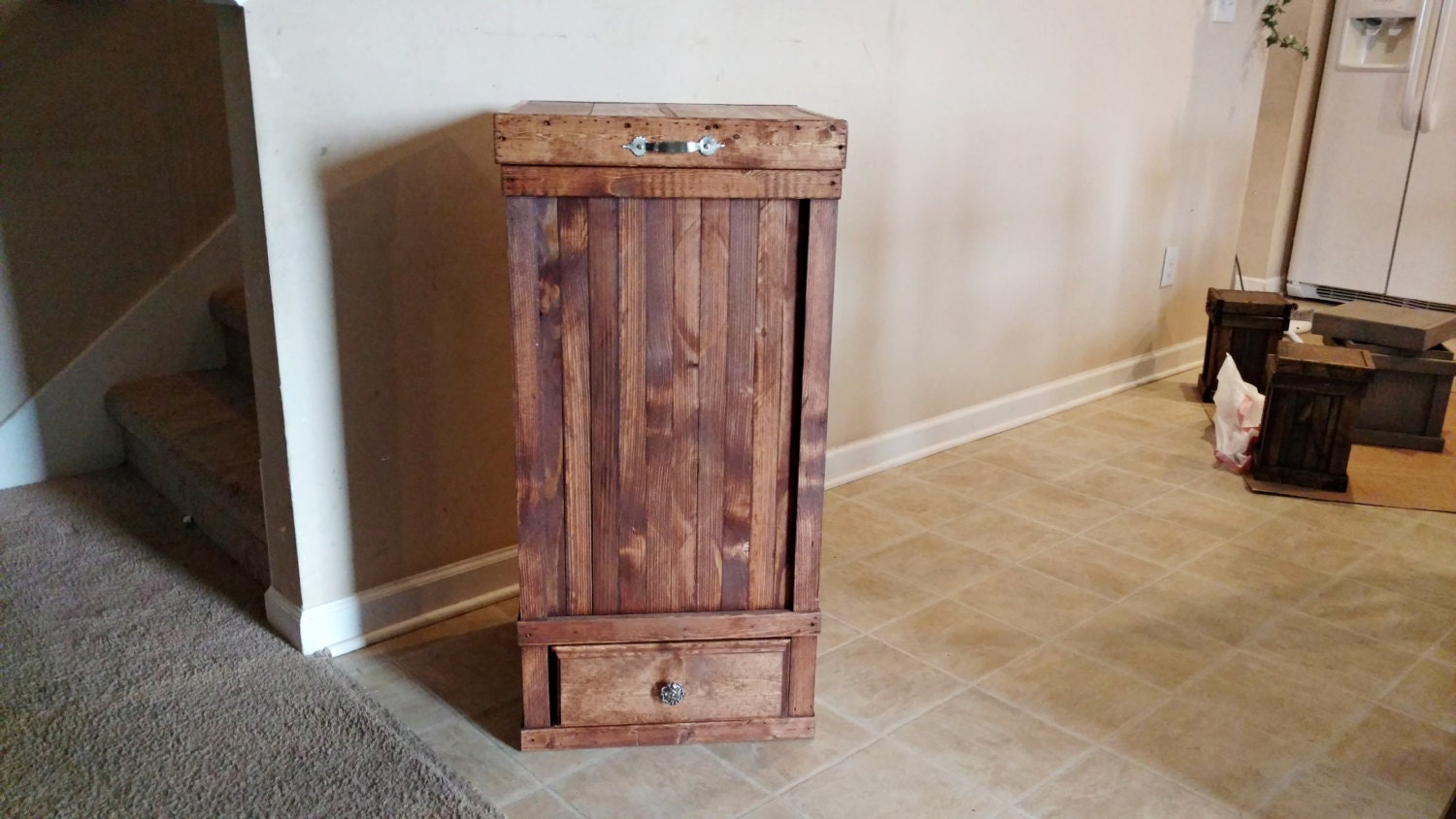 Rustic Kitchen Trash Can 30 Gallon Trash Can Trash Can With