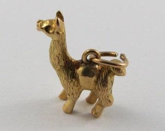 Llama 18K Gold Vintage Charm For Bracelet