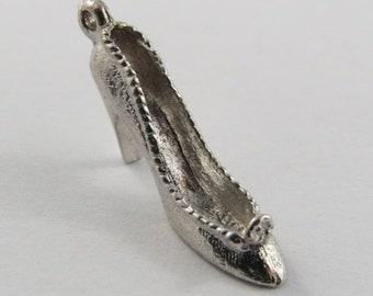 High Heel Sterling Silver Vintage Charm For Bracelet