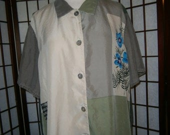 Women's Silk Short Sleeved Shirt