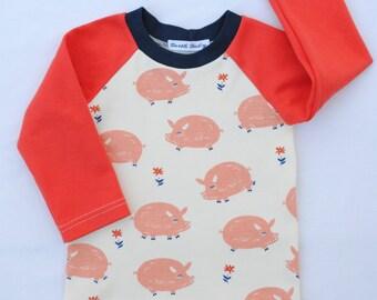 Organic Cotton Baby Shirt,Organic Cotton Toddler Shirt,Birch Organic,Homestead Knits,Long Sleeve Girl Shirt