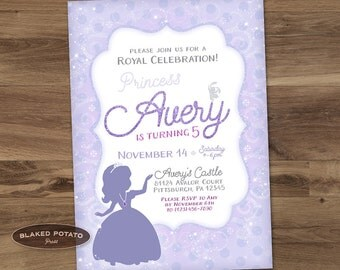 Sofia Birthday Invitation - Digital - Printable - Personalized - Sofia the 1st inspired - Princess Sofia - Little Princess