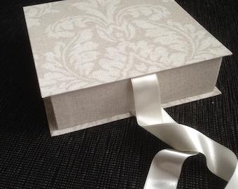 Gift box, Cardboard box, Handmade gift box, Box with lid, Photo present box, Wedding box, Jewelry display box, Customizable box, Linen box