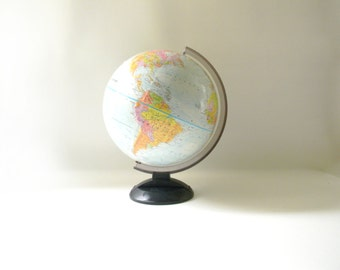 "Vintage Replogle 12"" Globe with Black Base"