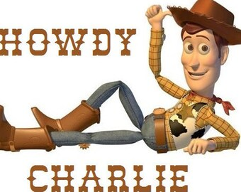 Toy Story woody Iron On t shirt Transfer with Any Name