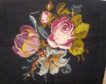 Floral Hand Hooked Tapestry