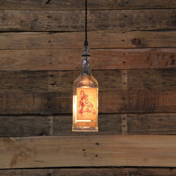 Sailor Jerry's Rum Pendant Light, Valentine's Gift For Guys, Valentine's Present For Him, Perfect Gift For Husband, Gift For Boyfriend