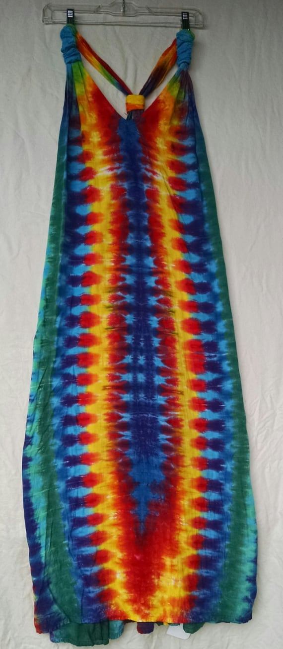 rainbow tie dye dress cover up by rabbithollowtiedyes