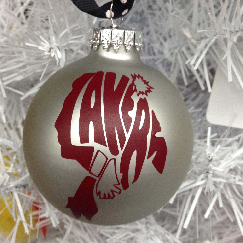 Holiday Christmas Tree Ornament Indian Lake Lakers
