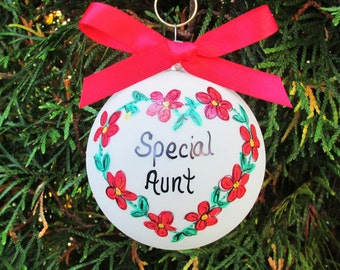Aunt ornament,Aunt custom personalized christmas ornament,aunt gift, friend,BFF,best friend,friends,sisters,sister