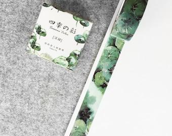 Cute washi tape - green plants   Cute Stationery