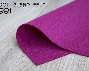Wool Blend Felt Crimson