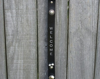 Leather Door Hanger | Welcome Door Hanger | Front Door Decor