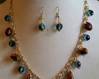 Blue & Brown Charm - SOLD