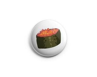 Sushi button -  Roe Sushi - Sushi Pinback Button, Magnet, or Flair, roe sushi badges, pinback buttons, sushi food pins