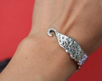 9/7 MADE in EUROPE zamak half bracelet, silver bracelet hook, zamak bracelet hook (ABLZ1) Qty1