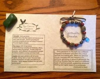 Spirituality Gemstone Bracelet, Healing, Energy