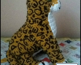 PDF Pattern for Crochet Amigurumi Jaguar Doll