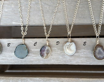 Tiny Geode Necklaces