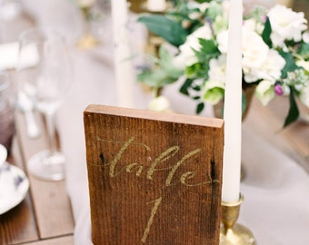 Reclaimed Wood Table Number