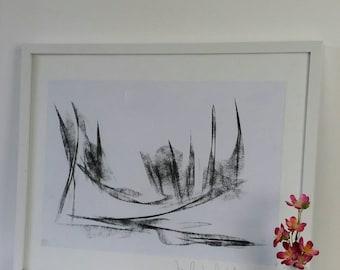 Artist ORIGINAL CHARCOAL DRAWING