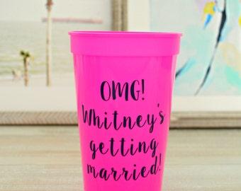 Bachelorette Party Stadium Cups