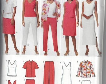Simplicity 4992 Sewing Pattern for Easy-to-sew Wardrobe Elements. Sizes 10 12 14 16 18, Uncut