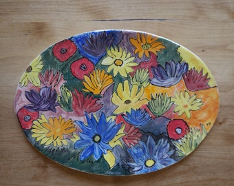 Colorful Tray of Flowers