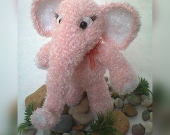 Elephant Crochet Toy Valentine's Day Gift with Love Gift for Her MADE TO ORDER