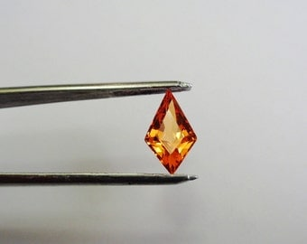 Mandarin Garnet.  3.3 ct. Mandarin Garnet 13.75 x 8 mm. Fancy Cut Natural Loose Gemstone.