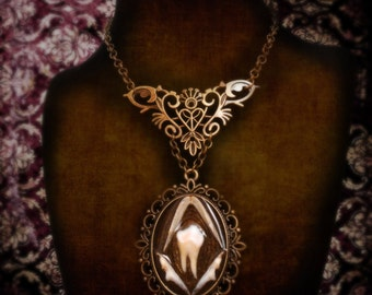 Serpent and the tooth, Bone jewelry, Oddities, Oddity,  Snake, Boar