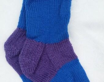 Blue and Purple Chunky Striped Socks